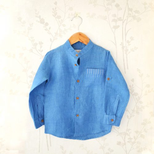 Liz Jacob Boys Blue Shirt