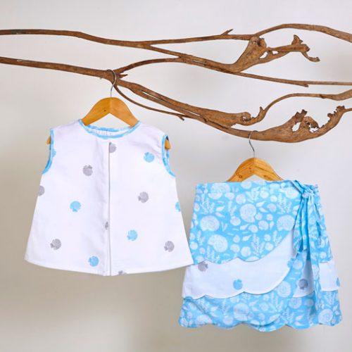 Liz Jacob Girls Skirt Set