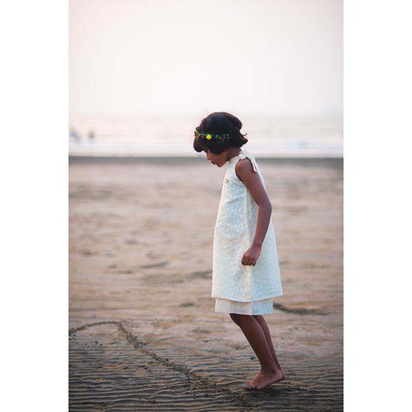 Liz Jacob Cream Dress