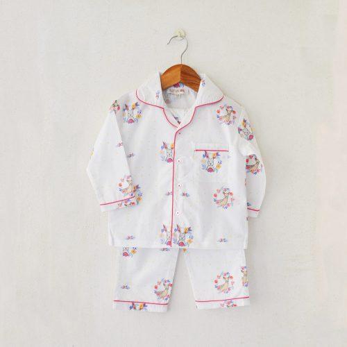 Liz Jacob cotton night-pyjama set