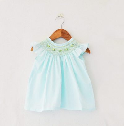 Liz Jacob smocked cotton baby-wear