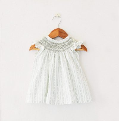 Smocked cotton dress from Liz Jacob