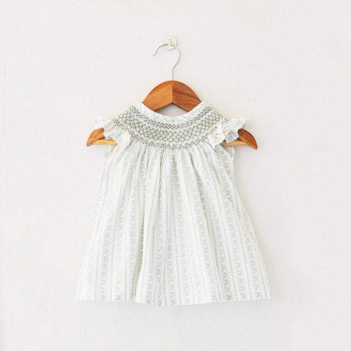 Smocked cotton dress from Liz Jacob