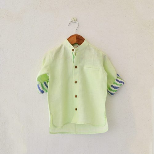 Linen-Ikat shirts from Liz Jacob